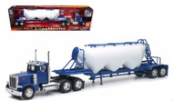 Peterbilt Model 379 Pneumatic Dry Bulk Long Hauler Semi Truck & Trailer 1/32 Scale By Newray 10583