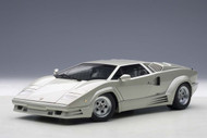 Lamborghini Countach 25th Anniversary Edition Silver 1/18 Scale Diecast Car Model By AUTOart 74536