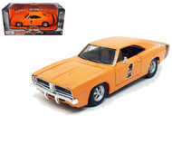 1969 Dodge Charger R/T Harley Davidson Orange 1/25 Scale Diecast Car Model By Maisto 32196