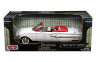 1960 Chevrolet Impala Convertible White 1/18 Scale Diecast Car Model By Motor Max 73110
