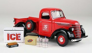 1938 International D-2 Pickup Truck With Load Speedway 1/25 Scale Diecast Model By First Gear 49-0365