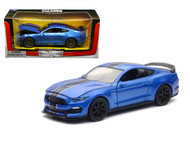 2016 Ford Mustang Shelby GT350R Blue 1/24 Scale Diecast Car Model By Newray 71833