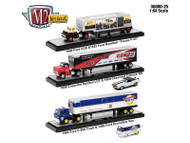 Auto Haulers Release 25 Set Of 3 1/64 Diecast Model Truck M2 Machines 36000-25