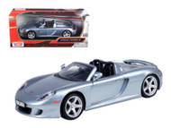 Porsche Carrera GT Convertible Silver 1/24 Scale Diecast Car Model By Motor Max 73305