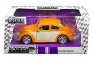 1959 VW Volkswagen Beetle Bug 2 Tone 1/24 Scale Diecast Car Model By Jada 99019