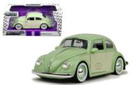 1959 VW Volkswagen Beetle Bug 2 Tone 1/24 Scale Diecast Car Model By Jada 99052