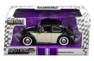 1959 VW Volkswagen Beetle Bug 2 Tone 1/24 Scale Diecast Car Model By Jada 99053