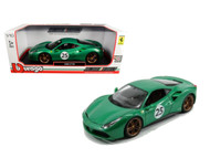 Ferrari 488 GTB 70th The Green Jewel 1/18 Diecast Car Model By Bburago 76101