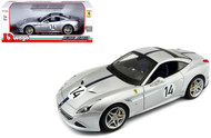 Ferrari California T Hot Rod Silver #14 70th 1/18 Scale Diecast Car Model By Bburago 76103