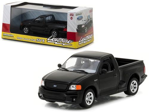 Ford F  Svt Lightning Pickup Truck Black   Scalecast Model By Greenlight