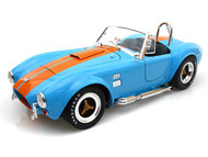 1965 Ford Shelby Cobra 427 S/C Blue & Orange Stripes 1/18 Scale Diecast Car Model By Shelby Collectibles SC 129