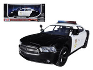 2011 Dodge Charger Pursuit LAPD Los Angeles Police Department 1/24 Scale Diecast Car Model By Motor Max 76947