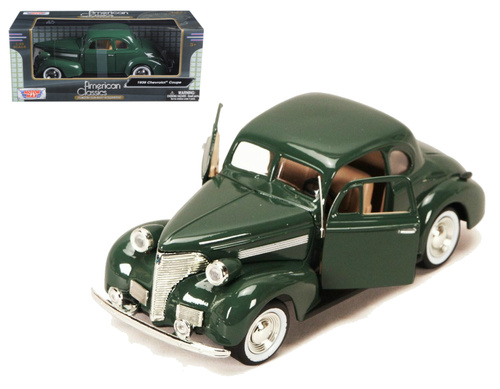 1939 Chevrolet Coupe Green 1/24 Scale Diecast Car Model By Motor Max 73247