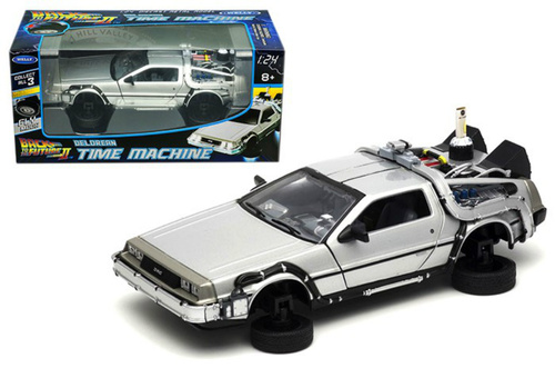 DeLorean Time Machine Flying Version Back To The Future II 1 24 Scale By Welly 22499