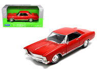 1965 Buick Riviera Gran Sport Red 1/24 Scale Diecast Car Model By Welly 24072