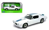 1972 Pontiac Firebird Trans AM White 1/24 Scale Diecast Car Model By Welly 24075