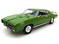 1969 Pontiac GTO Judge Green 1/18 Scale Diecast Car Model By Motor Max 73133