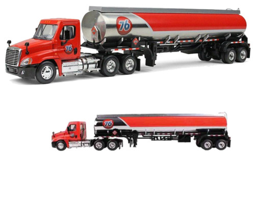 Freightliner Cascadia With 42' 76 Gas Fuel Tanker 1/64 Scale By First Gear 60-0279