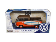 Volkswagen Type 2 T1 Bus With Surf Board 1/24 Scale Diecast Model By Motormax 79560