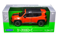 Jeep Renegade Trailhawk Orange 1/24-27 Scale Diecast Car Model By Welly 24071