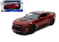 2017 Chevrolet Camaro ZL1 Burgundy 1/24 Scale Diecast Car Model By Maisto 31512