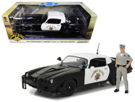 1979 Chevrolet Camaro Z/28 California Highway Patrol CHP Police Officer Figurine 1/18 Scale Diecast Car Model By Greenlight 13506