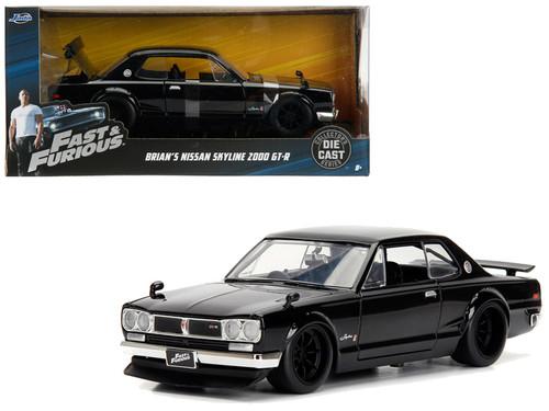 Nissan Skyline 2000 GT-R Fast & Furious Brians Black 1/24 Diecast Car Model By Jada 99686