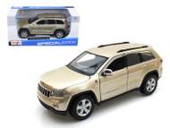 Jeep Grand Cherokee Laredo Gold 1/24 Scale Diecast Car Model By Maisto 31205