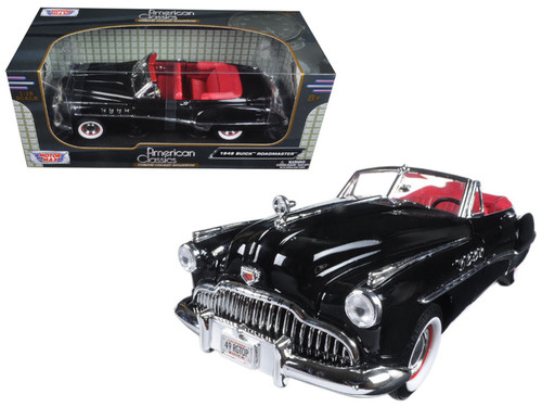 1949 Buick Roadmaster Convertible Black 1/18 Scale Diecast Car Model By Motor Max 73116