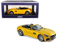 2017 Mercedes AMG GT C Roadster Yellow Metallic 1/18 Scale Diecast Car Model By Norev 183451