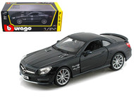 Mercedes Benz SL65 AMG Black 1/24 Scale Diecast Car Model By Bburago 21066