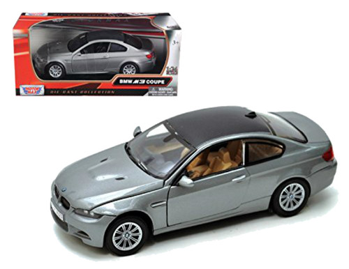BMW M3 E92 Coupe Gray 1/24 Scale Diecast Car Model By Motor Max 73347