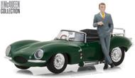 1956 Jaguar XKSS Steve McQueen Figure Collection 1/43 By Greenlight 86434