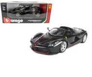 Ferrari LaFerrari Aperta F70 Black 1/24 Scale Diecast Car Model By Bburago 26022