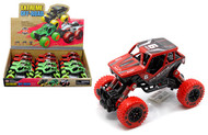 """Extreme Monsters Off Road Rock Climber Racer Box Of 12 5.5"""" Long Pull Back"""