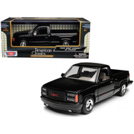 1992 GMC Sierra GT Black Pickup Truck 1/24 Scale Diecast Model By Motor Max 73204
