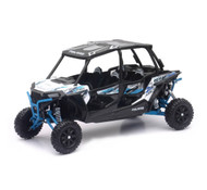Polaris RZR XP 4 Turbo EPS 4 Seater White Blue 1/18 Scale Model By Newray 57843 B