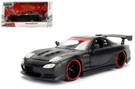 1993 Mazda RX-7 Matt Black JDM Tuners 1/24 Scale Diecast Car Model By Jada 98676