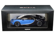 Bugatti Chiron Blue 1/18 Scale Diecast Car Model By Kyosho 09548