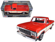1979 Ford F-150 Pickup Truck Red 1/24 Scale Diecast Model By Motor Max 79346