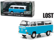 1971 Volkswagen Type 2 T2B Dharma Van Blue With White Top Lost 1/24 Scale Diecast Model By Greenlight 84033