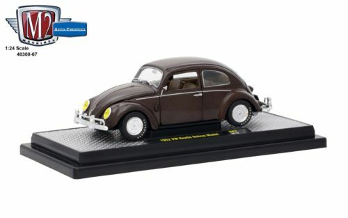 1952 Volkswagen Beetle Bug Brown 1/24 Diecast Car Model By M2 Machines 40300-67A