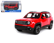 2017 Jeep Renegade Red 1/24 Scale Diecast Car Model By Maisto 31282