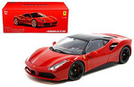Ferrari 488 GTB Red Signature Series 1/18 Scale Diecast Car Model By Bburago 16905