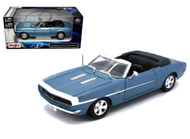 1968 Chevrolet Camaro SS 396 Convertible Blue 1/24 Scale Diecast Car Model By Maisto 31257