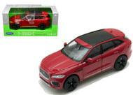 Jaguar F-Pace F Pace Red SUV 1/24-27 Scale Diecast Car Model By Welly 24070