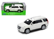 2017 Cadillac Escalade White 1/24-27 Scale Diecast Car Model By Welly 24084