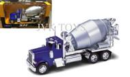 Peterbilt 379 Cement Mixer Truck Super Hauler Blue 1/32 By Welly 39943
