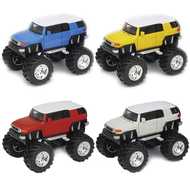 "Toyota FJ Cruiser Monster Truck RED WHITE BLUE YELLOW 5"" Long By Welly 47003"