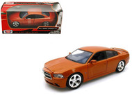 2011 Dodge Charger R/T Copper 1/24 Scale Diecast Car Model By Motor Max 73354